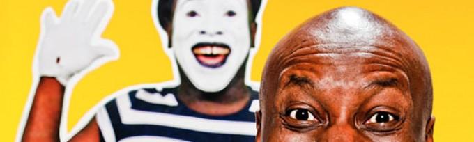 Didier Lucien alias Didier Ze Mîme par Ze Photoman, en couverture du Journal VOIR cette semaine.