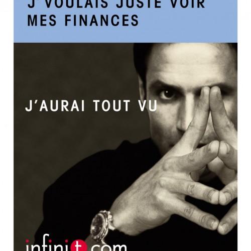 Publicité pour InfiniT.com – DA: Michèle Peticlerc