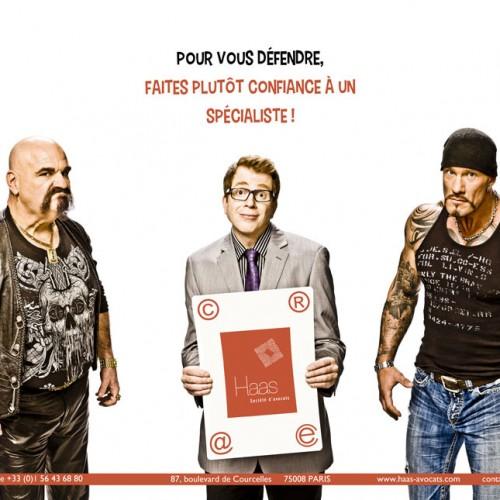 Communication pour le cabinet parisien HAAS-Avocats